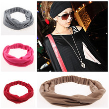 100% Cotton Wide Elastic Headband Sports Turban Headbands for Women Soft Headwear Variety of Wear Method Girls Hair Accessories