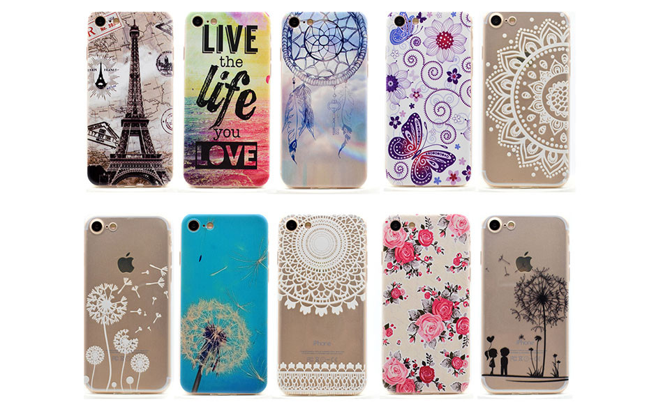 Ultra Thin Painted Case for iPhone 7 4.7 inch Fashion Silicon TPU Phone Cover For Apple iPhone 7 Cases Clear Soft Plastic Fundas