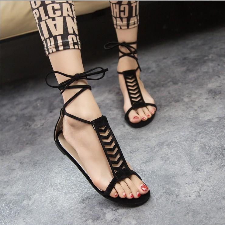 Sandals women new 2014 woman sandal summer shoes women's flip flops gladiator sandals flat heel shoe lady causal - Locks World store
