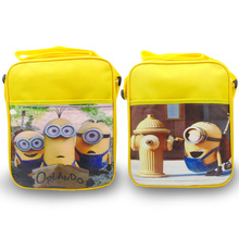 High quality mochila Despicable Me Minion backpack Children school bags for teenagers Children inclined shoulder bag(China (Mainland))
