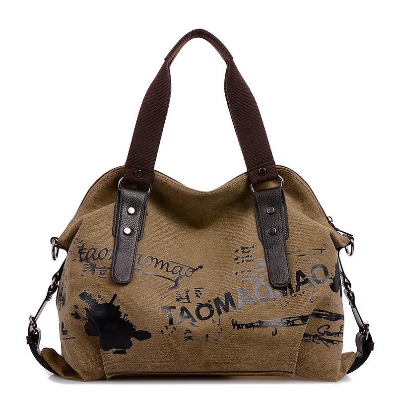New Fashion Ladies Canvas Shoulder Bag Female Messenger Bag Women Handbag Factory Direct(China (Mainland))