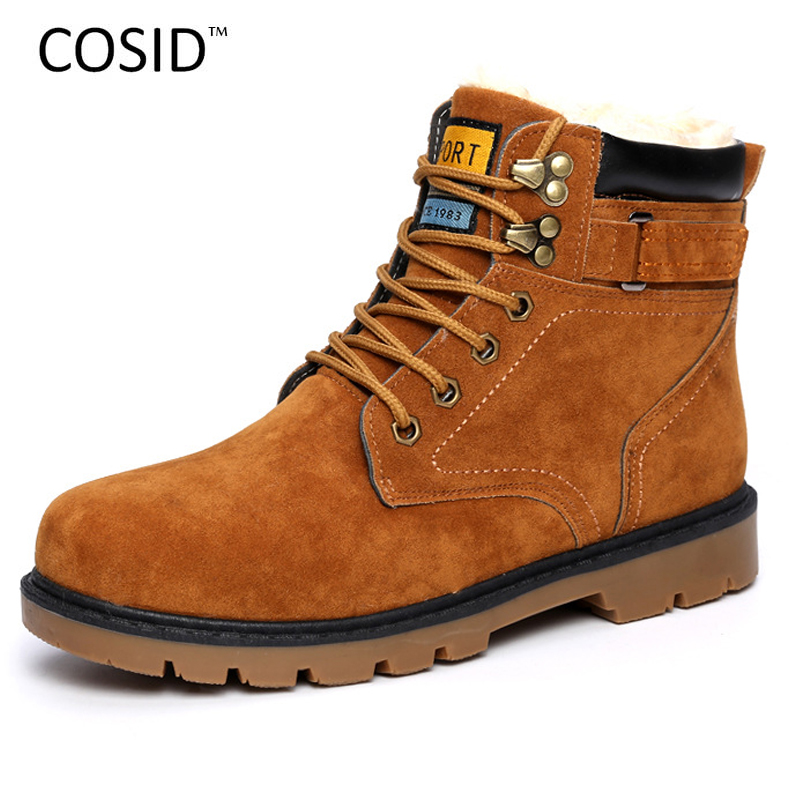 Winter Boots For Men Boots Male Fashion Design Ankle Suede Leather Boots Flat Heels Botas Masculinas Warm Winter Shoes RMC-188(China (Mainland))