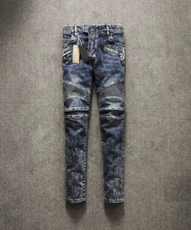 Mens Jeans New Hot Sale Low Dark 2015 Men Jeans Snow Washing Low waist Micro bomb