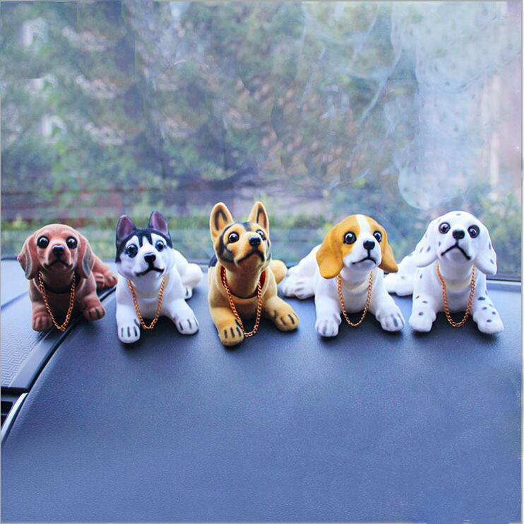 Car Toy Animal Ornaments Decoration Auto Simulation Shaking Head Doll Dog Adornment Products Automobiles Interior Accessories(China (Mainland))