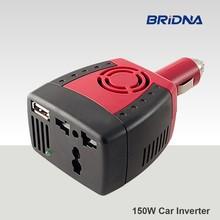BRIDNA new 150W Car Power Inverter 12V DC to 220V/110v AC converter Adapter with Cigarette Lighter and USB 5V Charger For Laptop