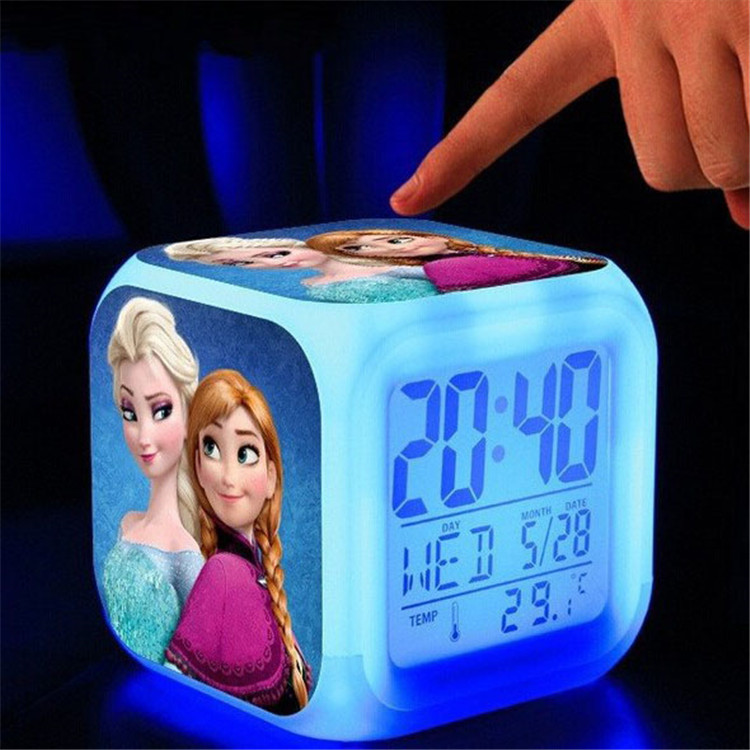 Clock LED Colorful flash luminous Touch lights digital clock weather Calendars else Dolls Clock Home Decor Desk Table Clocks