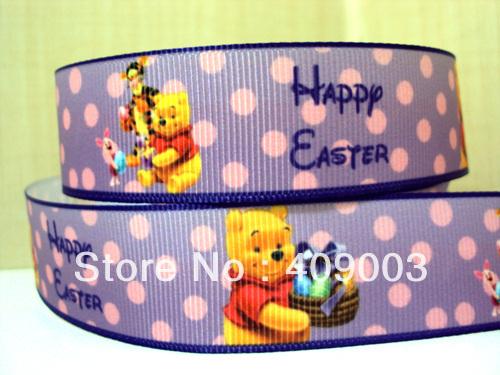 5Y695 kerryribbon free shipping 1'' happy easter ribbon Grosgrain ribbon(China (Mainland))