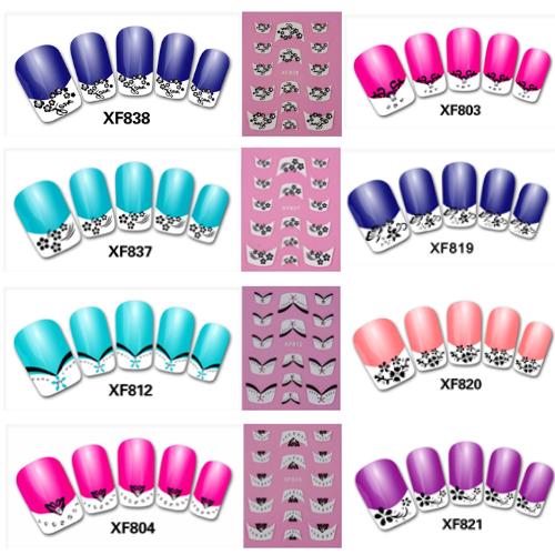 french manicure stickers nails nagel water transfer nail art sticker design 2015 tips - ShenZhen WENTOP Technology Co., Ltd. store