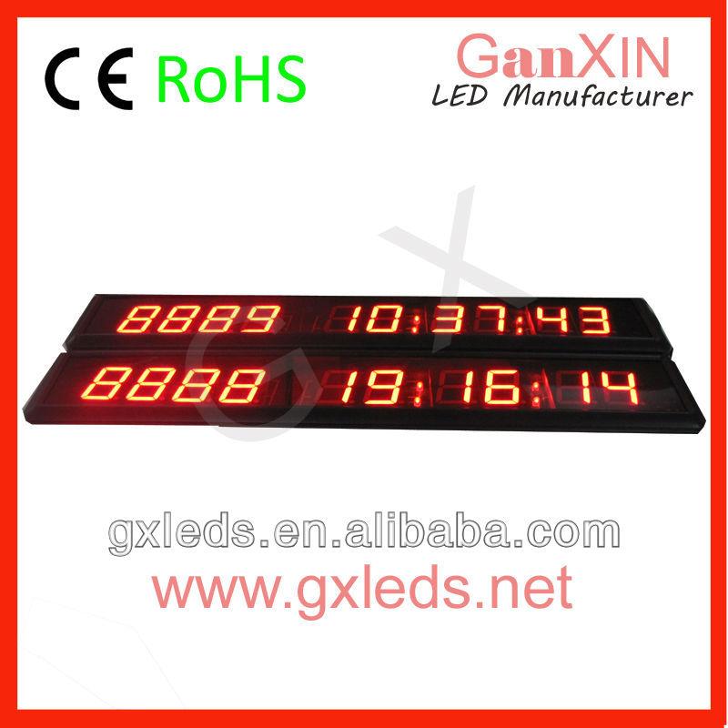 alibaba express GI10D-1.8R1.8 inch 10 digit indoor red high brightness led cool digital clocks(China (Mainland))
