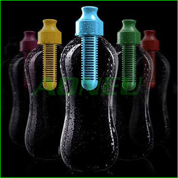 Outdoor Sport Camping multifunctional Carbon filter Health Water Bottle Filtered Drinking Bottle 600ml with retail Box 6pcs/lot