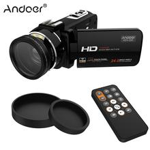 """Andoer HDV-Z20 1080P Digital Video Camera Full HD 3.0"""" Touchscreen with 37mm 0.45x Wide Angle Lens 24 MP 16X Portable Camcorders(China (Mainland))"""