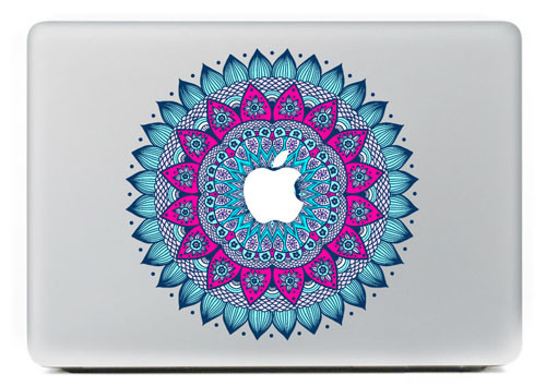 The decorative pattern of blue laptop Protection skin For Vinyl Decal Macbook sticker 13 15 Pro/Air/Retina MC-046(China (Mainland))