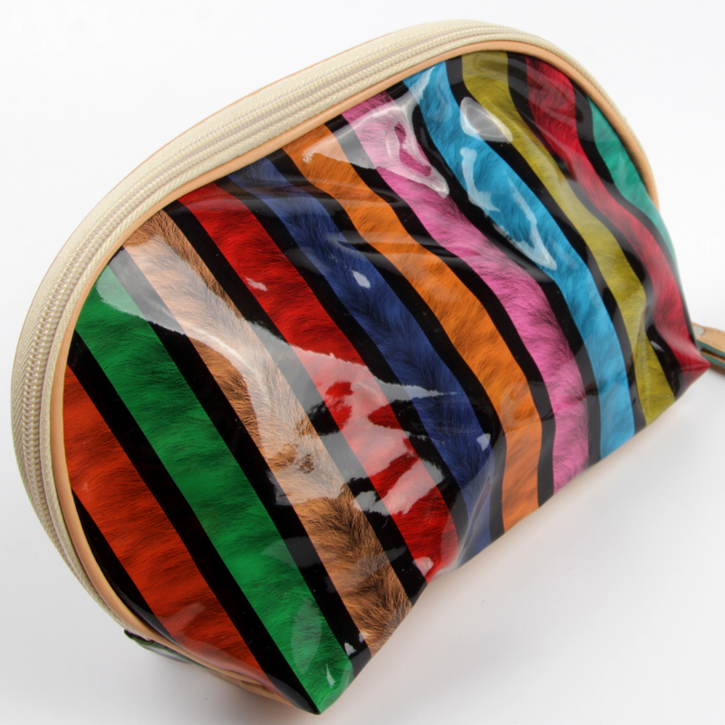 fashion color women cosmetic bag makeup cosmetic cases organiseur de sac neceser hombres bolsa cosmeticos wash bags with glass(China (Mainland))