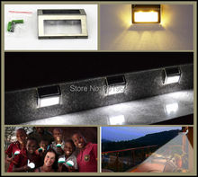 60Pcs/lot Solar LED Outdoor Wall Light