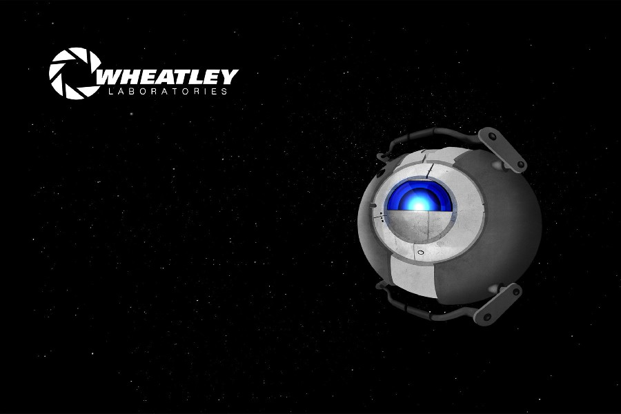 science fiction Portal 2 Wheatley space cloth silk art wall poster and prints(China (Mainland))