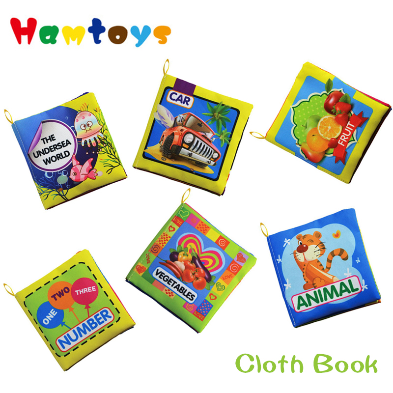 6Patterns Baby Toys Hot New Infant Kids Early Development Cloth Books Learning Education Unfolding Activity Books(China (Mainland))