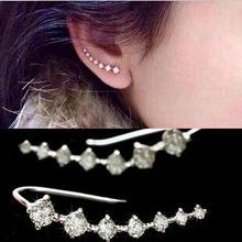 2016 new fashion hot Seven stars CZ diamond Trendy Jewelry Beautifully Ear row Accessories line type Earrings for women EH0282(China (Mainland))