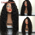Wholesale Natural Black Color Curly Lace Front Wig Glueless Silk Top Full Lace Wigs 100 Mongolian