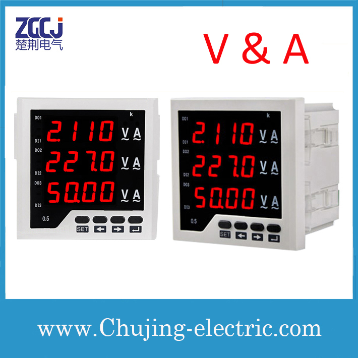 Free shipping !!! digital voltage current meter 3 phase voltage and current meter voltage current volt ampere meter digital(China (Mainland))