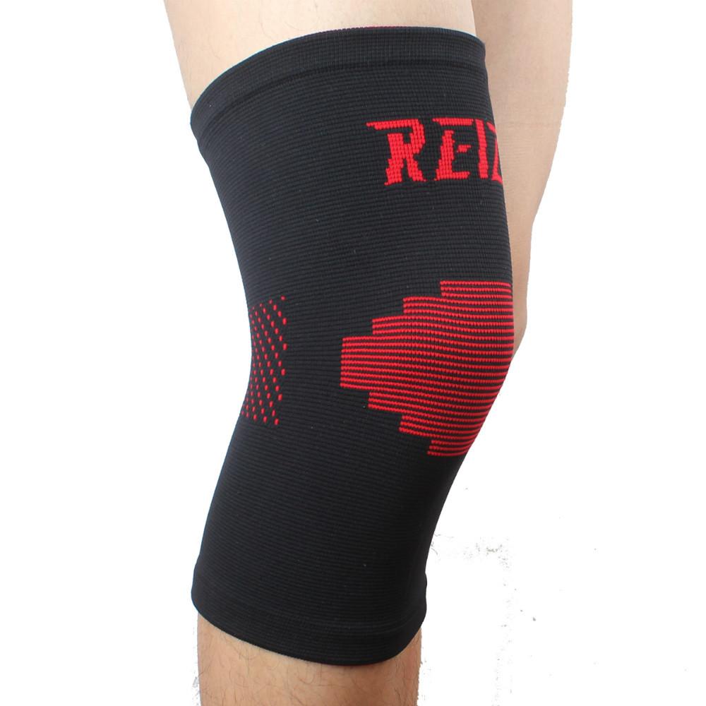 Ruston Elastic Sports Leg Knee Support Brace Wrap Protector Knee Pads Sleeve Cap Patella Guard Volleyball Knee Black Red - 1PCS(China (Mainland))