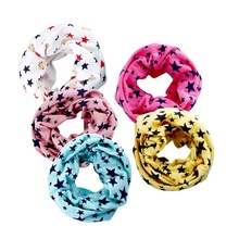 5 pattons Fashion Cotton Baby Scarf Kids Outdoor Warm Magic Scarf scarves boys girls O ring collars Scarf