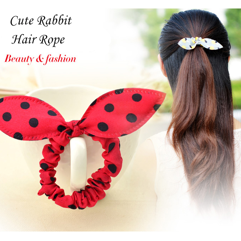 Lovely Bow Knot Hair Accessories Wome Girl Elegant Hair Band Hair Tie Strap Elastic Hair Bands Nice Hairwear Wedding Accessories(China (Mainland))
