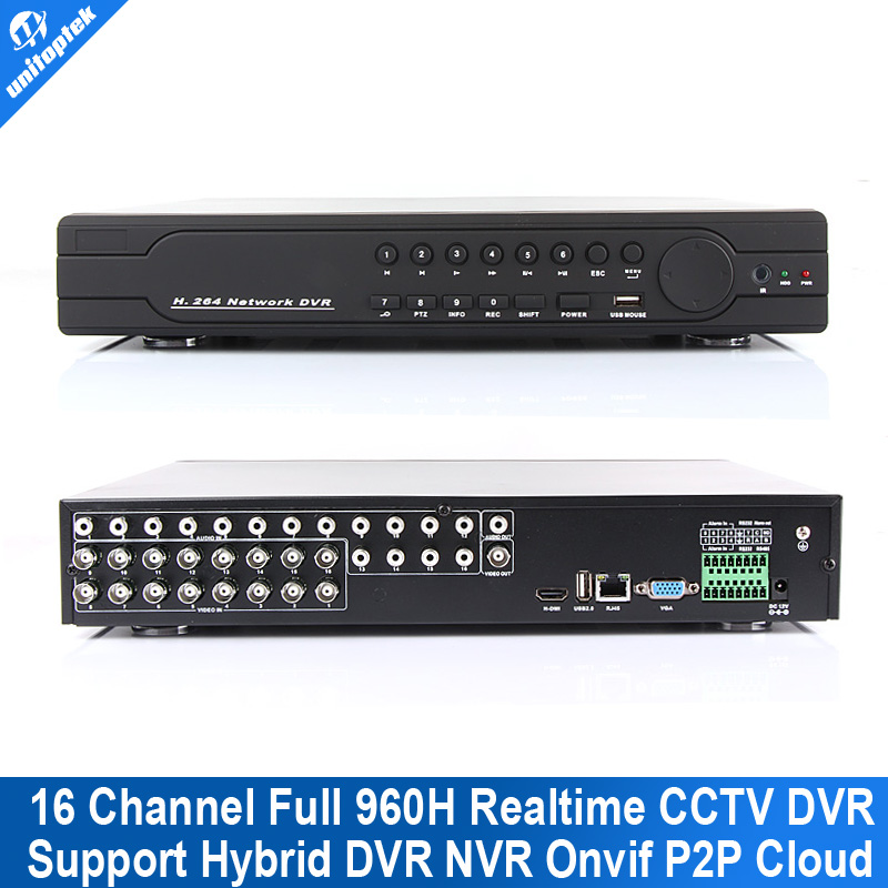 16Ch Full 960H D1 DVR Realtime Recording Playback With HDMI 1080P Output 16 Channel 16Ch Hybrid DVR NVR CCTV Onvif P2P Cloud(China (Mainland))