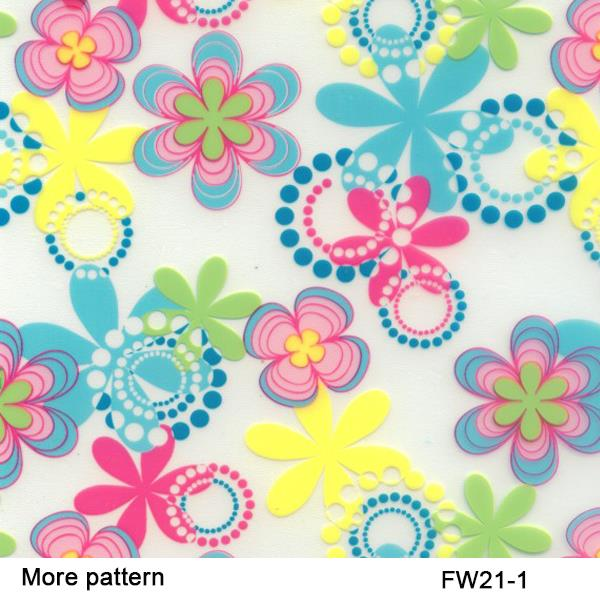 FW021-1 Flower pattern 50Squar meters hologram water transfer Width 50cm hydrographic film(China (Mainland))