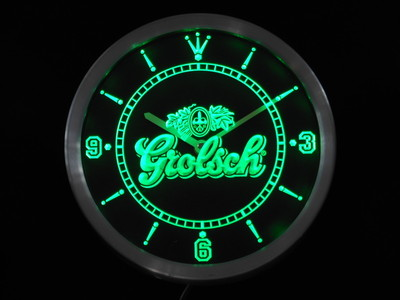 nc0002-g Grolsch Beer Neon Sign LED Wall Clock Wholesale Dropshipping