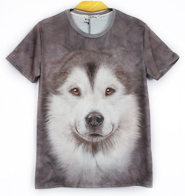 Summer style 3d t shirt women/men Innovative Animals O-Neck casual Short sleeve Printed 3D t-shirt Tops Tees(China (Mainland))