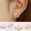 Crystal Stud Earrings Boucle d oreille Femme 2016 Fashion Flower Earrings for Women Gold Bijoux Jewelry