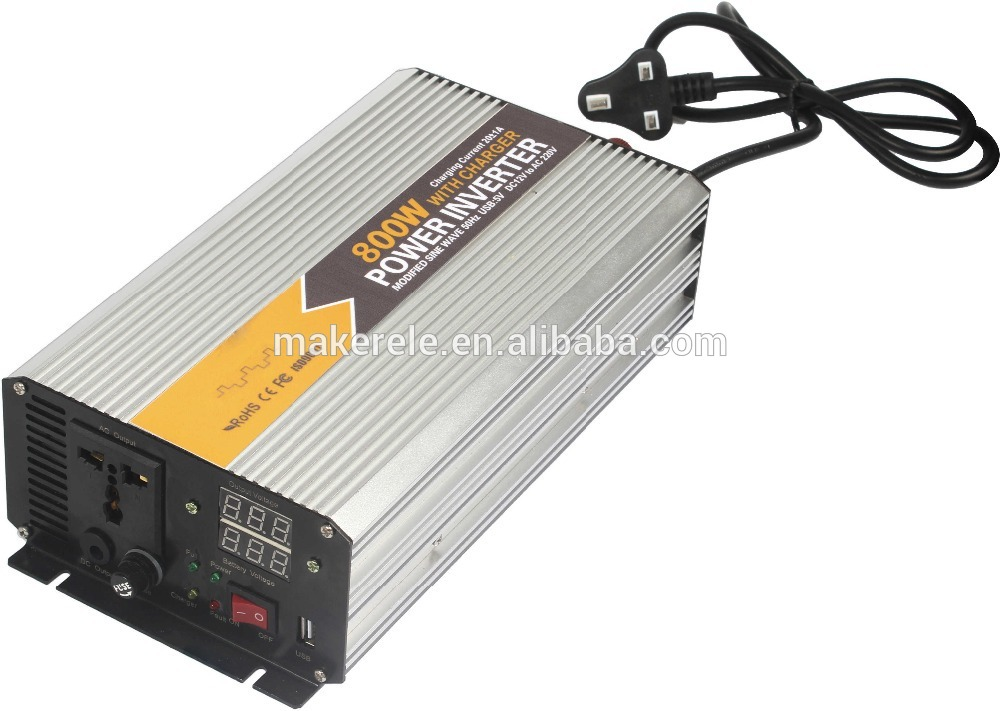 Фотография MKM800-482G-C 800watt 48vdc 220vac single phase modified sine wave power inverters for boats,car power converter with charger