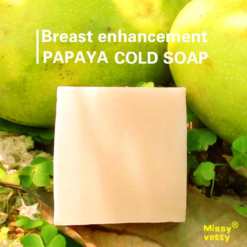 Handmade Natural papaya pawpaw with milk 85g soap bar whitening Breast Enhancement, shower bath cleanser facial treatment(China (Mainland))
