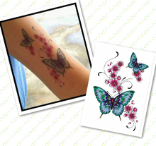 High Quality  Waterproof Fashion Temporary Tattoos Metal Tatoo Stickers butterfly flower  Flash Tattoo for Men Women Male(China (Mainland))