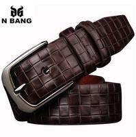 2015 nice quality faux leather brand new men belts for men,pu strap male luxury metal pin buckle,cintos masculinos free shipping