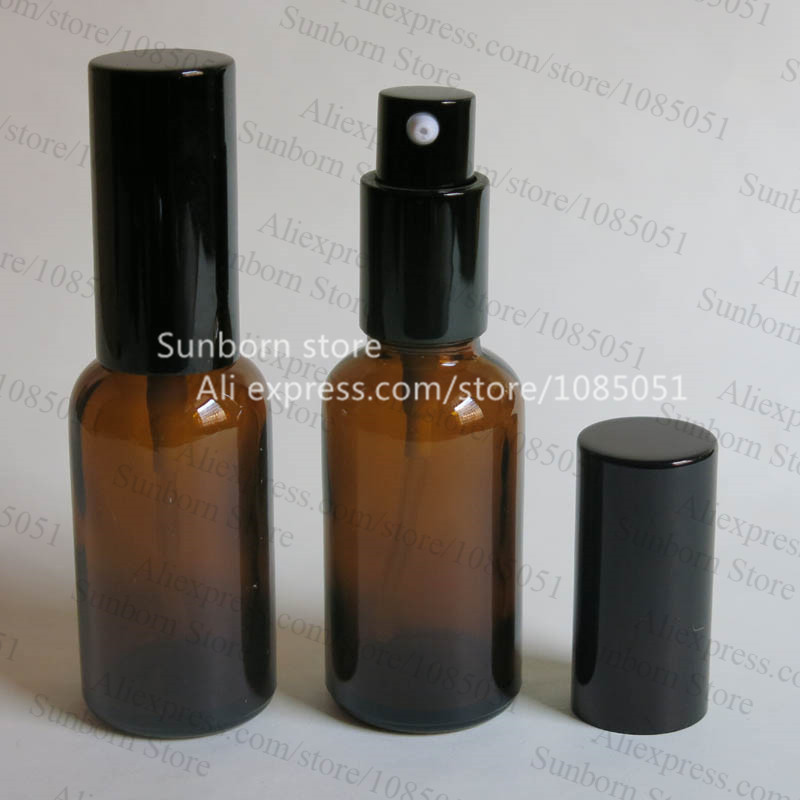 Hot sale 30ML amber sprayer bottle for thin oil, perfume use(China (Mainland))