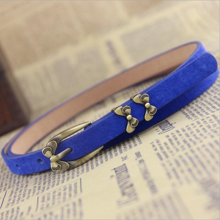 2015 Women Genuine Leather Belts Pigskin Women Dress Belt Straps Female Pin Buckle Metal Thin Waist Belt Ladies' Waistband TB040(China (Mainland))