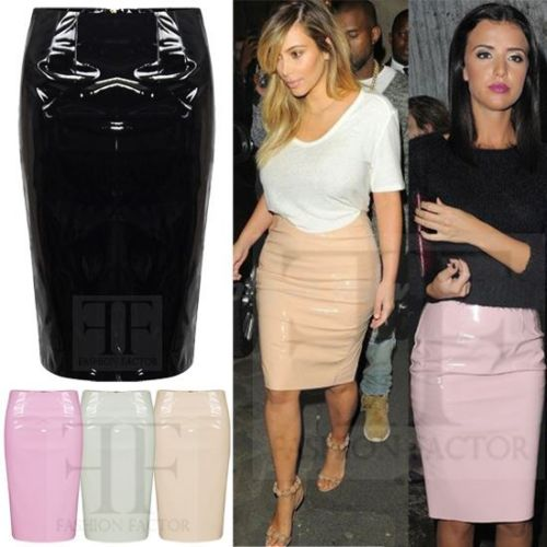 Faux leather high waisted pencil skirt – Modern skirts blog for you