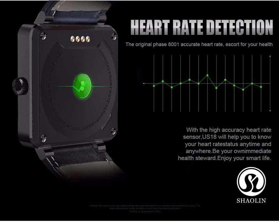 ถูก ใหม่smart watch us18 s mart w atchสำหรับios a ndroid p honeอัตราการเต้นหัวใจการตรวจสอบติดตามการออกกำลังกายsmart watch androidอุปกรณ์สวมใส่