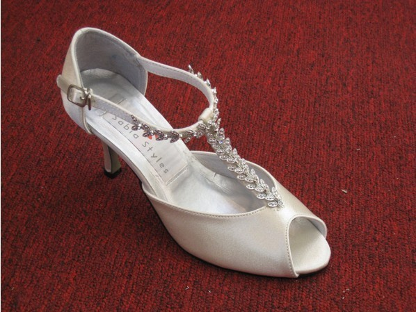 1 pair/lot custom-made free shipping bridal ivory peep toe wedding shoes for brides A3233