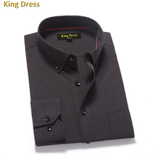 2016 Time-limited Real Men Shirts Chemise Homme Hombre Vestir High Quality Long Sleeve Formal Business Cotton Men's Shirt (China (Mainland))