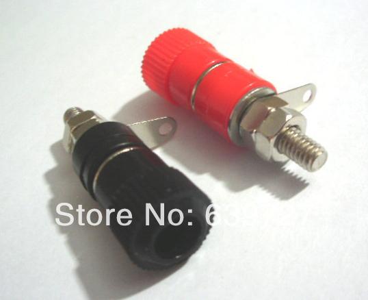 200 PCS Binding Post Speaker Terminal for 4mm Banana plug red+black(China (Mainland))