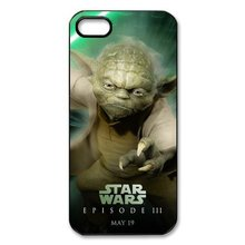 Star Wars Yoda Printed phone cases for Iphone 4 4s 5 5s 5c 6 6plus Samsung galaxy A3 A5 A7 S3 S4 S5 Mini S6 Edge Note 2 3 4 5