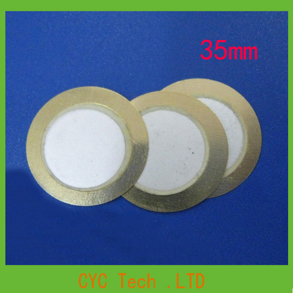 Electronic Components Accessories:25pcs 35mm Copper Buzzer Piezoelectric Ceramic pieces Film Gasket(China (Mainland))
