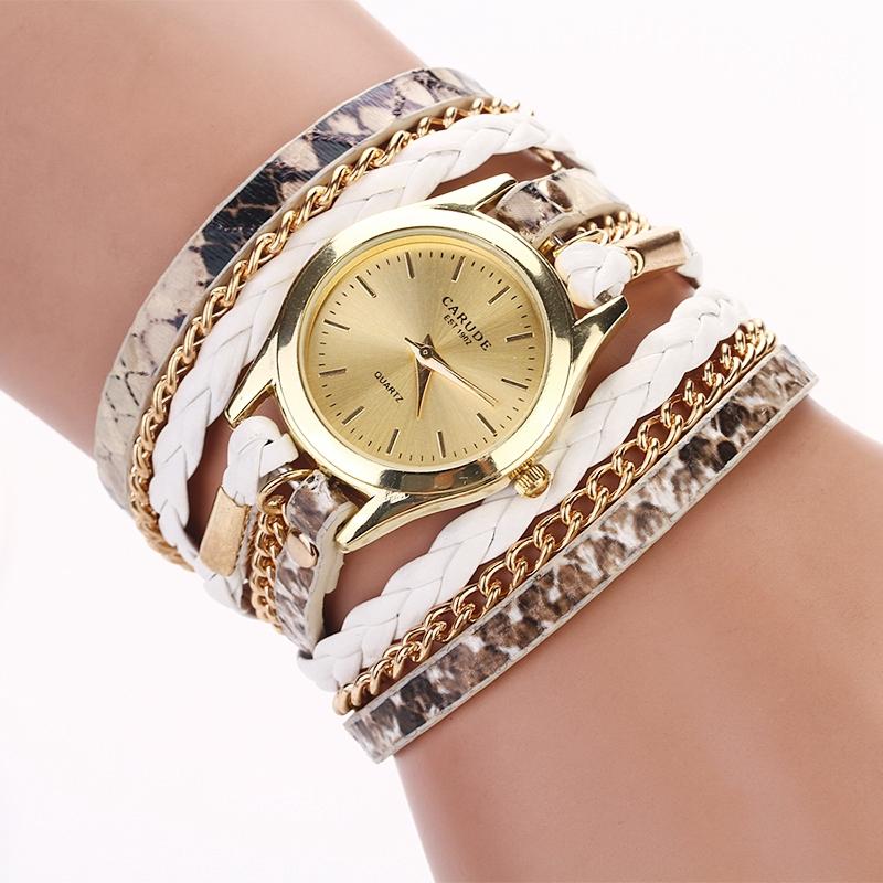 77 Fashion Hot Sell New Woven Leopard Geneva Bracelet Wristwatch Women Dress Watches Women Luxury Brand Quartz Watch XR621(China (Mainland))