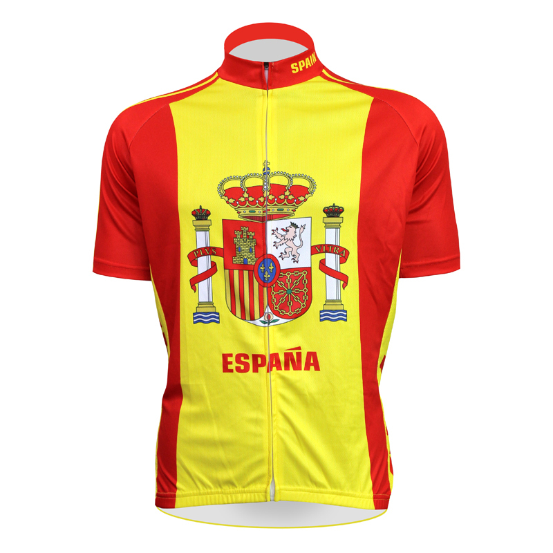 Aliensports Novelty ESPANA Cycling Jersey Short Sleeve Spain Bike Sportswear maillot ciclismo Summer Anti-sweat Ropa Ciclismo - cycling jerseys' store