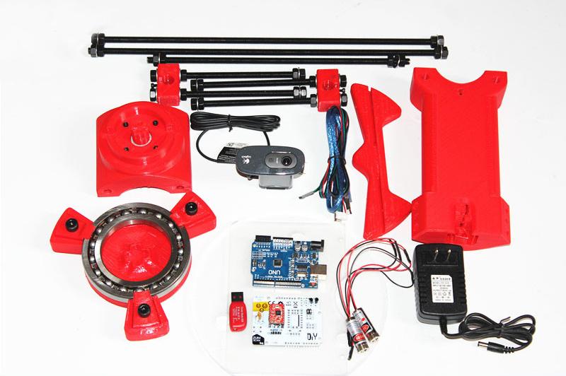Reprap 3d Open source DIY BQ Ciclop 3d scanner kit for 3d printer, designer and engineering