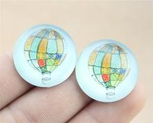 1pcs 25mm or 20mm hot air balloon photo Pattern domed glass cabochon Handmade diy pendant G20-0208 G25-0208(China (Mainland))