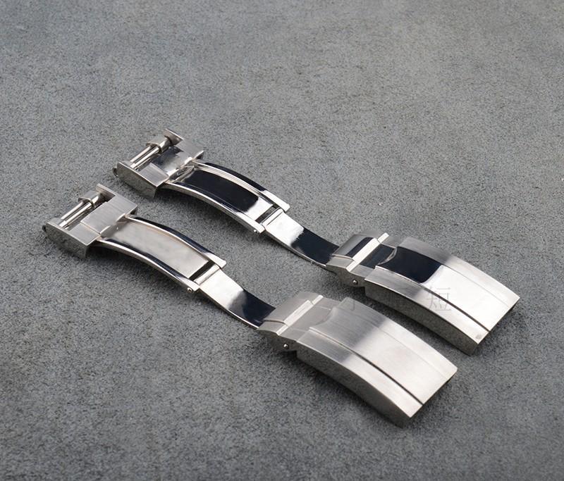 16 мм * 9 мм бабочка застежка, 316 из нержавеющей стали часы пряжки застежка для ролевых с оригинальным логотипом