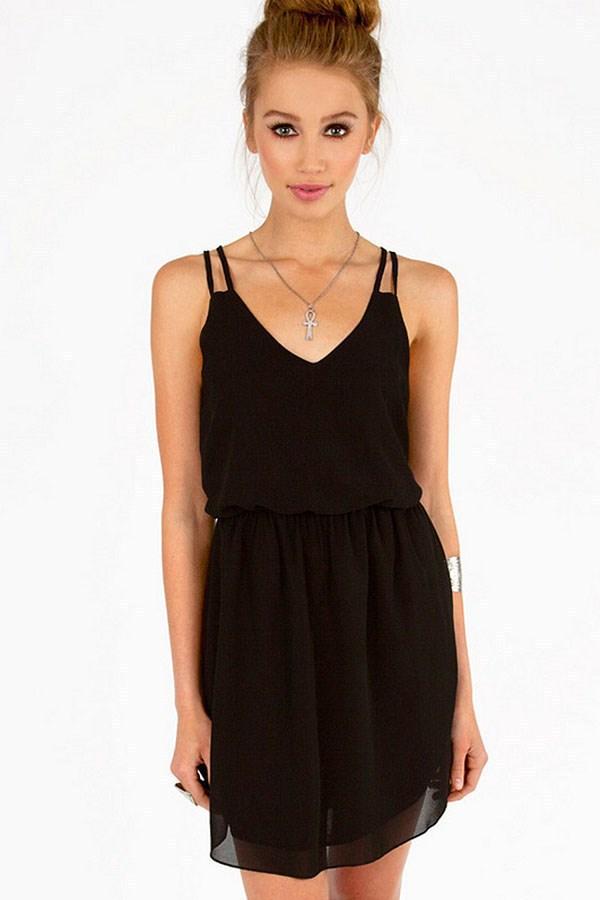 Plain black summer dress – Dress online uk